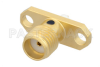 SMA Female Connector Solder Attachment 2 Hole Flange Mount Stub Terminal -- PE45067 -Image