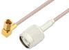 SSMC Plug Right Angle to TNC Male Cable 36 Inch Length Using RG316 Coax -- PE3C4418-36 -Image
