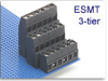3-Tier Fixed Terminal Block Modules -- ESMT Multi-Tier Mid-Profile Modular Assembly