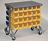 Shelf Top Cart with 24 Blue Storage Bins (Bins- 14 3/4 x 8 1/4 x 7) -- 52181