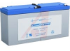Battery, Sealed Lead Acid, 12VDC, 9, Rechargeable, Long F1 Termination -- 70115698