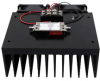Medium Power Amplifier with Heatsink at 1 Watt P1dB Operating from 6 GHz to 18 GHz with SMA -- FMAM4062F -Image