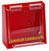Brady Prinzing Yellow on Red Acrylic Group Lockout Box 45578 - 12 in Width - 7.5 in Height - 10 Padlock Capacity - 754476-45578 -- 754476-45578 - Image