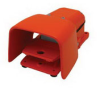 Heavy Duty Industrial Foot Switch Cast Metal, Alert Orange -- 78366721250-1 - Image