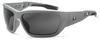 Ergodyne Skullerz BALDR-PZ Polarized Safety Glasses Smoke Lens - Matte Gray Frame - Full Frame - 720476-57131 -- 720476-57131