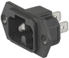 IEC Appliance Inlet C16A, Screw-on Mounting, Front or Rear Side, Solder or Quick-connect Terminal -- 6120-3 -Image