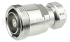 7/16 DIN Female (Jack) to 4.1/9.5 Mini DIN Male (Plug) Adapter IP67 UnMated, Tri-Metal Plated Brass Body, 1.25 VSWR -- SM4469 - Image
