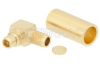 MMCX Plug Right Angle Connector Crimp/Solder Attachment for RG316-DS, RG188-DS -- PE44784 -Image