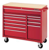 Rolling Cabinet,41 x 18 x 37-1/2 In,Red -- 13R493