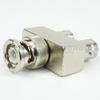 BNC T Adapter Male (Plug)-Female (Jack)-Female (Jack), Nickel Plated Brass Body -- SM3442