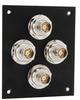 4 JACK PANEL INSERT BULKHEAD REAR MOUNT TRB 3 LUG ISOLATED -- REF00217 -Image