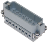 Male Insert for Rectangular Connector, 16 Pins -- CDCM-16N-Image