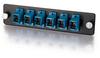 Q-Series? 6-Strand, SC, Zirconia Insert, SM, Blue SC Adapter Panel -- APL-QTR-S3S