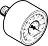 Precision pressure gauge -- MAP-40-4-1/8-EN - Image
