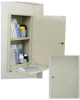 In Wall Medication Cabinet, Single Door/Single Lock (Wo.. -- WL2781 - Image