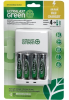 Ultralast ULGVALUE4 AA/AAA Battery Charger With 4 Green AA P -- ULGVALUE4