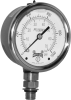 PFQ Series Stainless Steel Liquid Filled Gauge with SAE Connection -- PFQ3643