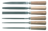 Warding File Set with Wooden Handles, 6 Piece -- 120P [from CK Tools] - Image