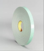3M 4032 Off-White Foam Mounting Tape - 4 in Width x 72 yd Length - 1/32 in Thick - 03368 -- 021200-03368 -- View Larger Image