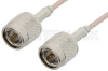 75 Ohm TNC Male to 75 Ohm TNC Male Cable 12 Inch Length Using 75 Ohm RG179 Coax, RoHS -- PE35360LF-12 -Image
