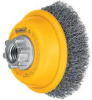 DEWALT 3 In. x 5/8 In. to 11 In. Crimped Wire Cup Brush -- Model# DW4920