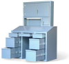 Shop Desk w/ Drawers & Upper Compartment -- 56-SD-UC-320-7DB-FL-11VD - Image