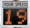 Radar Speed Control Sign -- RU2 FAST 350