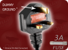 BS 1363 UK3 to EURO RECEPTACLE 2 HOME • Power Cords • International Power Cords • UK Power Cords -- 8701.072 - Image