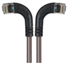 Category 5E Right Angle Patch Cable, RA Left Exit/RA Right Exit, Gray, 7.0 ft -- TRD815RA8GRY-7 -Image
