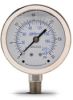 0-30 psi Liquid filled Pressure Gauge with 2.5 inch mechanical dial -- G25-SL30-4LS