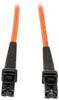 Duplex Multimode 62.5/125 Fiber Patch Cable (MTRJ/MTRJ), 5M (16-ft.) -- N312-05M
