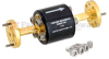 WR-10 Waveguide Isolator with 25 dB min Isolation from 75 GHz to 110 GHz using Round Cover UG-387/U-Mod Flange -- FMWIR1000