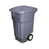 Brute Rollout Container, Square, Plastic, 50 gal, Gray -- 9W2700