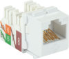 White CAT6A Keystone Jack Unshielded RJ45 -- C6AJA70-WH-R2 -- View Larger Image