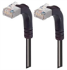 Category 5E Shielded Right Angle Patch Cable, Right Angle Up/Right Angle Up, Black 7.0 ft -- TRD815SRA5BLK-7 -Image
