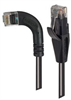 Category 5E LSZH Right Angle Patch Cable, Straight/Right Angle Left, Black, 25.0 ft -- TRD815ZRA6BLK-25 -Image
