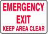 Emergency Exit Keep Area Clear Sign -- SGN917 - Image