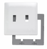 Two Gang Toggle Screwless Wall Plate with Plastic Sub-plate -- SWP2W