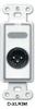 XLR 3-pin Male Jack on D Plate - Solder type -- D-XLR3M