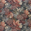 Allover Leaves Pinecone Tapestry Fabric -- RH-Fall Harvest - Image