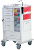 Tall Phlebotomy / Specimen Collection Cart -- MTWA-34696-WHT