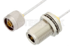 N Male to N Female Bulkhead Cable 48 Inch Length Using PE-SR405FL Coax -- PE3971-48 -Image