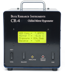 The CR-4 is a chilled mirror hygrometer that uses a 3-stage thermoelectric cooler (TEC) to enable frost point measurements of as low as –65 °C, under favorable ambient conditions.