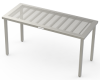 Cleanroom Stainless Steel Tables, Perforated Stainless Steel -- CAP64 CT