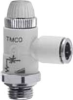 Composite Right Angle Flow Control Valve -- TMCO 972-1/8-4 - Image