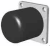 Round Bumpers with a Steel Plate Mount -- RB-2020-P-60UR