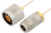 N Male to N Female Cable 60 Inch Length Using PE-047SR Coax, RoHS -- PE34287LF-60 -Image