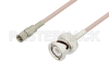 10-32 Male to BNC Male Cable 12 Inch Length Using RG316 Coax, LF Solder, RoHS -- PE3C3424LF-12 - Image