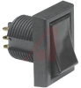Switch, Rocker/Paddle; Rocker; On-None-On; 15/32 Inches Round Hole -- 70156250