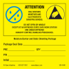 """Moisture and ESD Label, 4"""" x 4"""" -- 304-4040 -- View Larger Image"""
